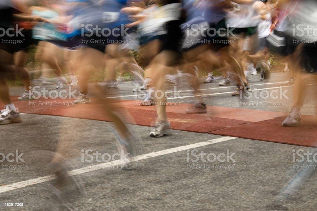 Marathon starting line royalty-free stock photo