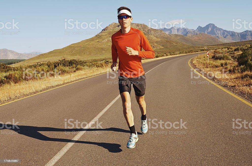 Marathon training... royalty-free stock photo
