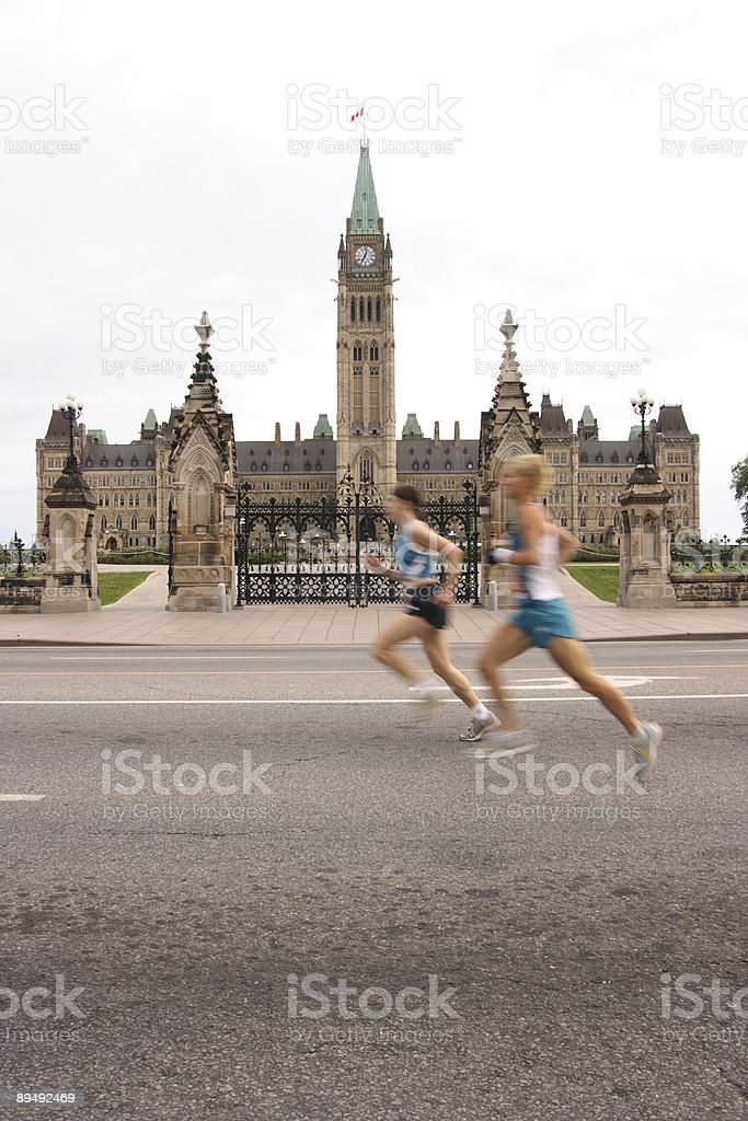 Marathon - Women Passing Parliament royalty-free stock photo