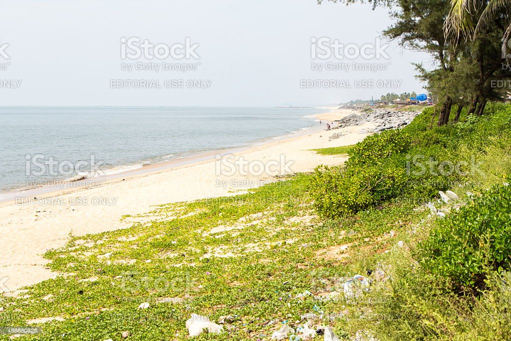 Maravanthe beach, Karnataka, India stock photo