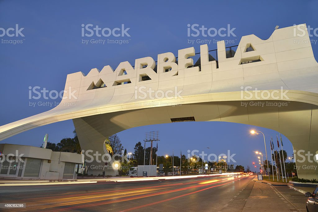 Marbella arch. Costa del sol. stock photo