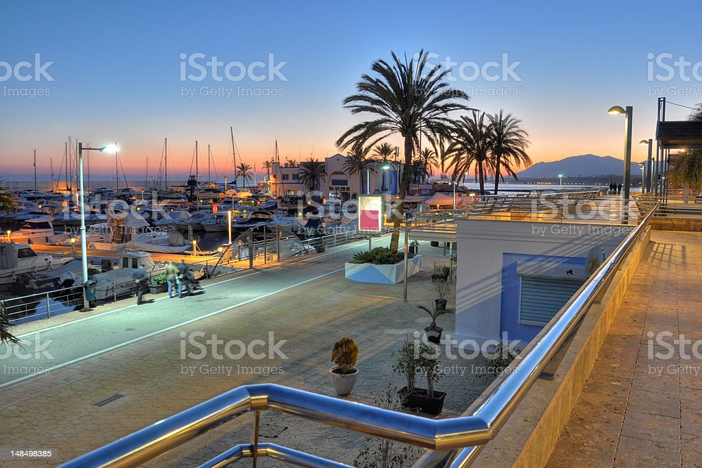 Marbella harbor,Costa del Sol,Spain stock photo