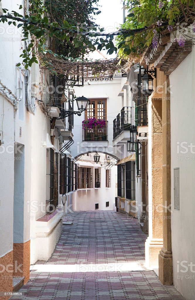 Marbella old town stock photo