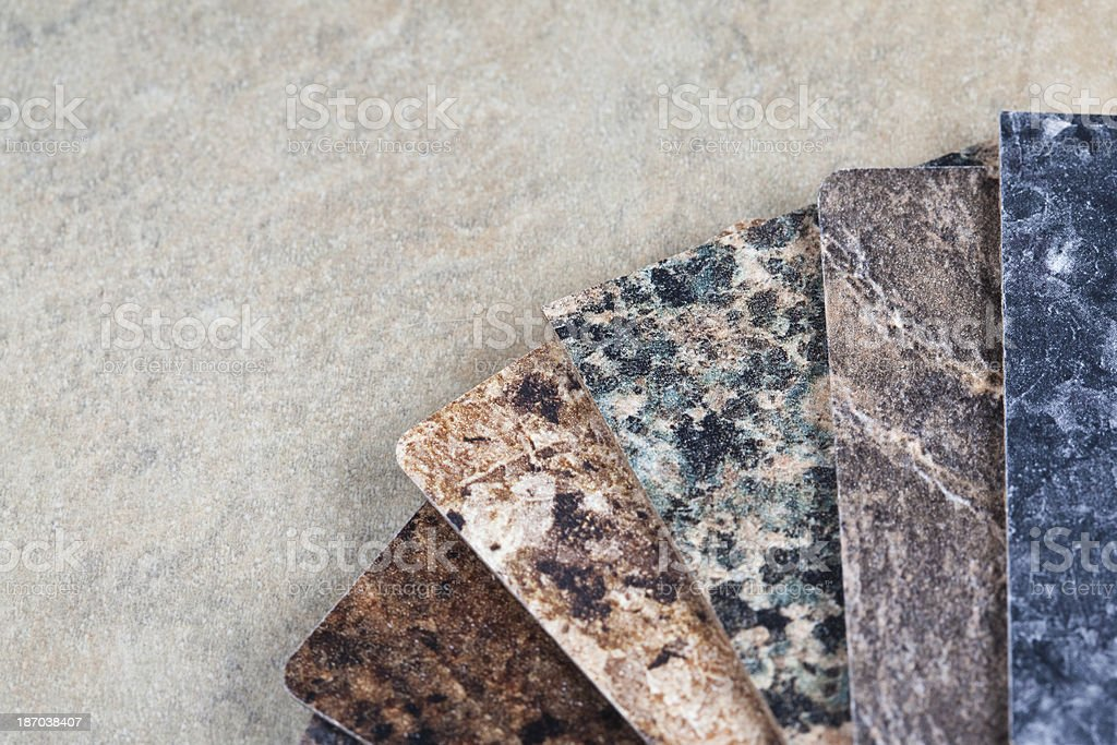 Marble and Granite Color Swatches royalty-free stock photo
