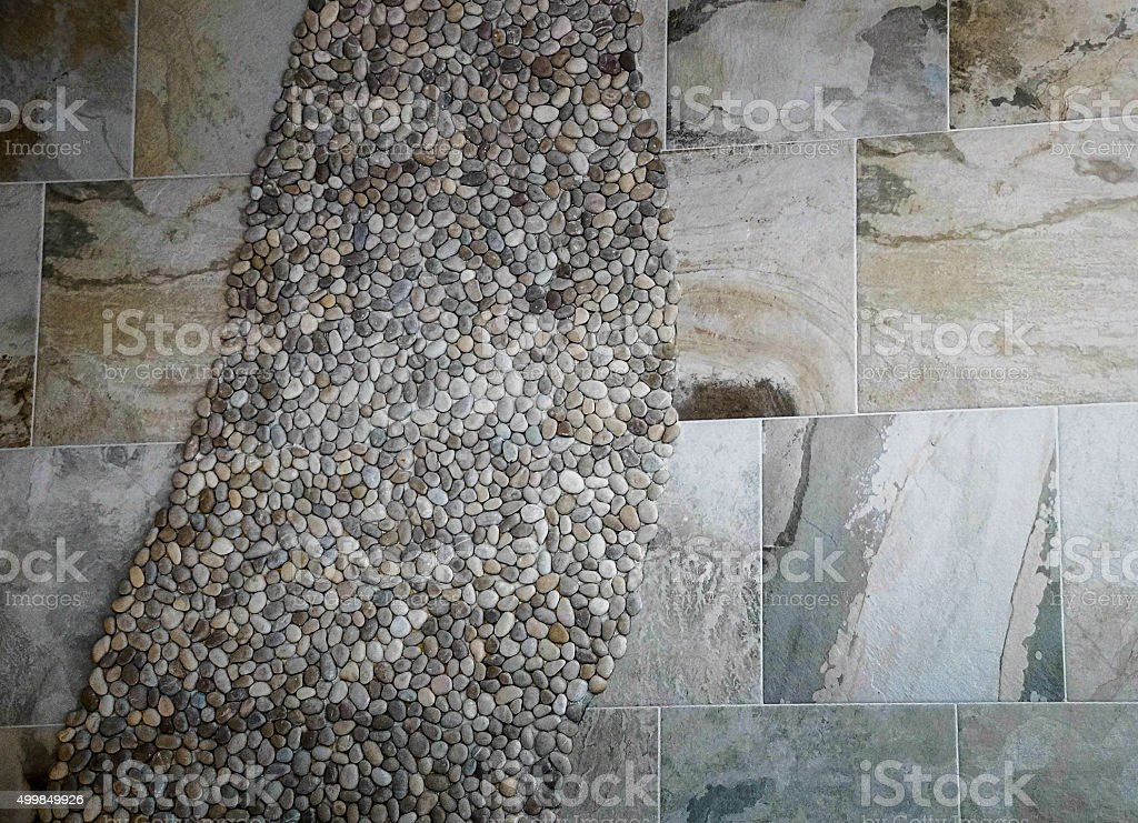 Marble and Stone Wall stock photo