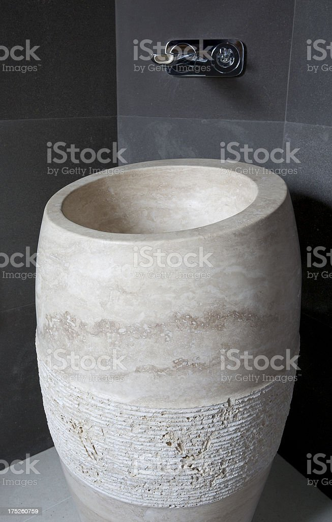 marble basin royalty-free stock photo
