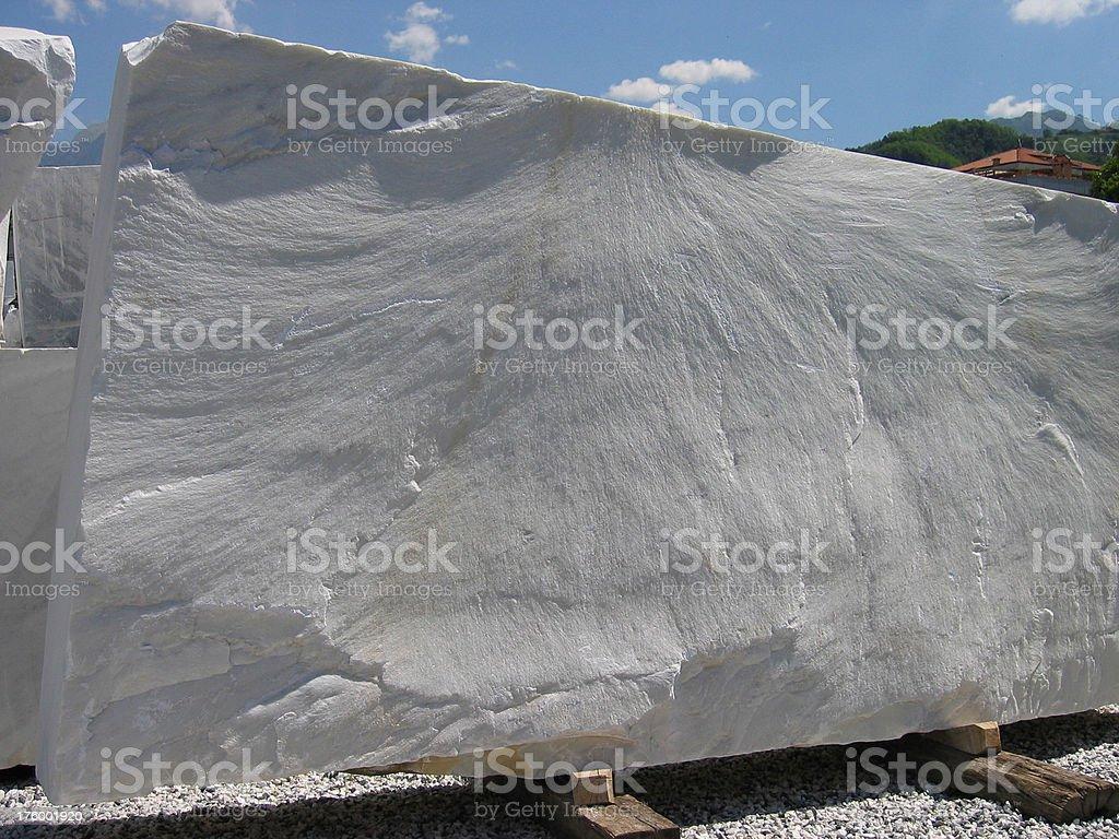 Marble Block - Carrara, Italia stock photo