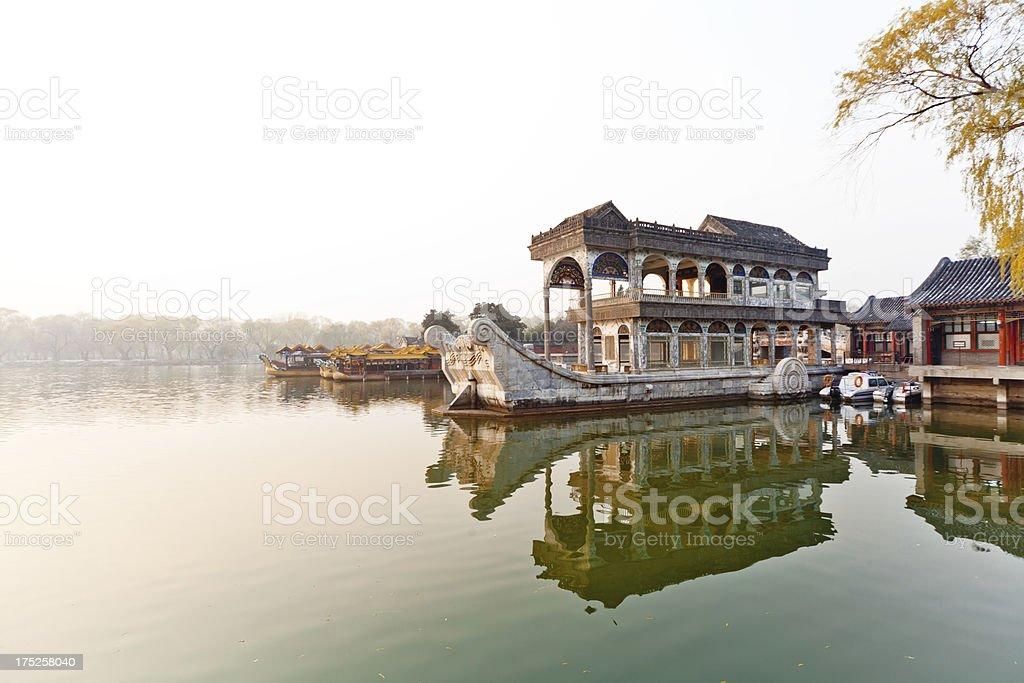 Marble Boat at Summer Palace,Beijing stock photo