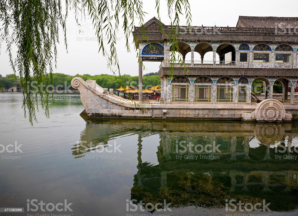 Marble Boat in Summer Palace, Beijing stock photo