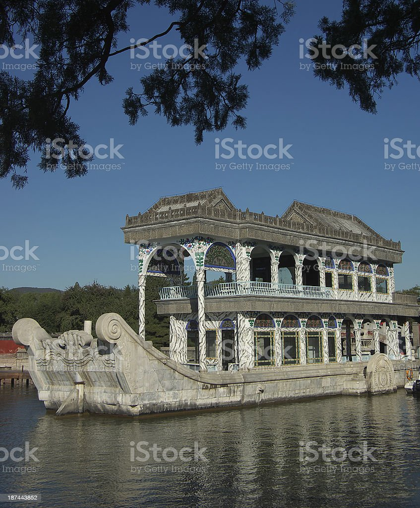 Marble Boat in Summer Palace stock photo