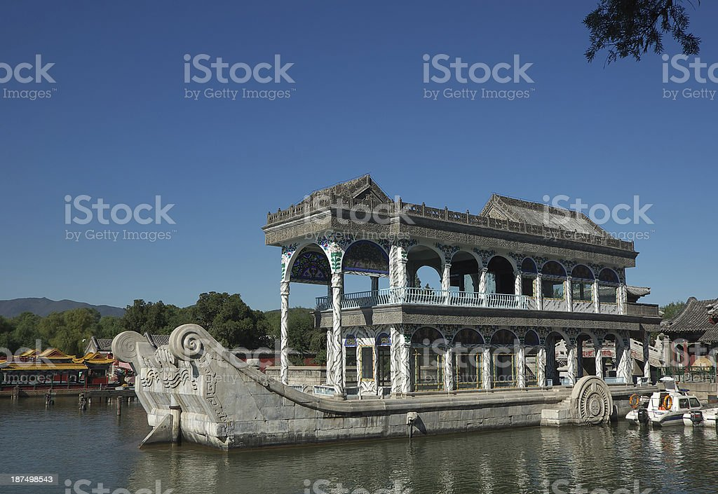 Marble Boat in Summer Palace royalty-free stock photo