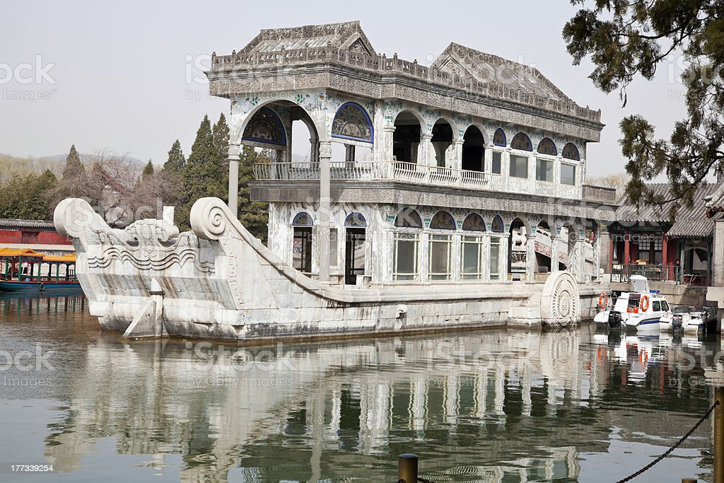 marble boat stock photo