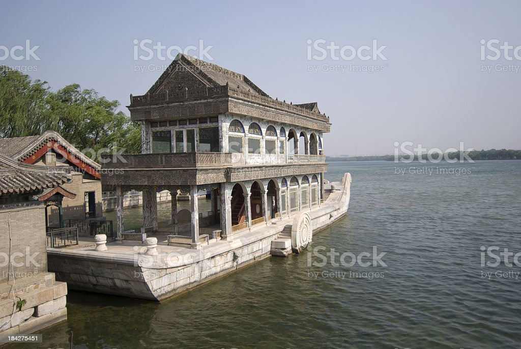 Marble Boat royalty-free stock photo