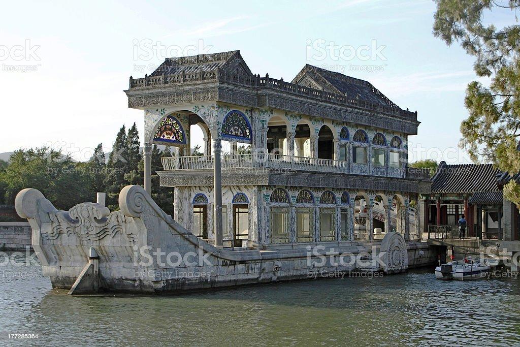 Marble Boat, Summer Palace, Beijing, China stock photo