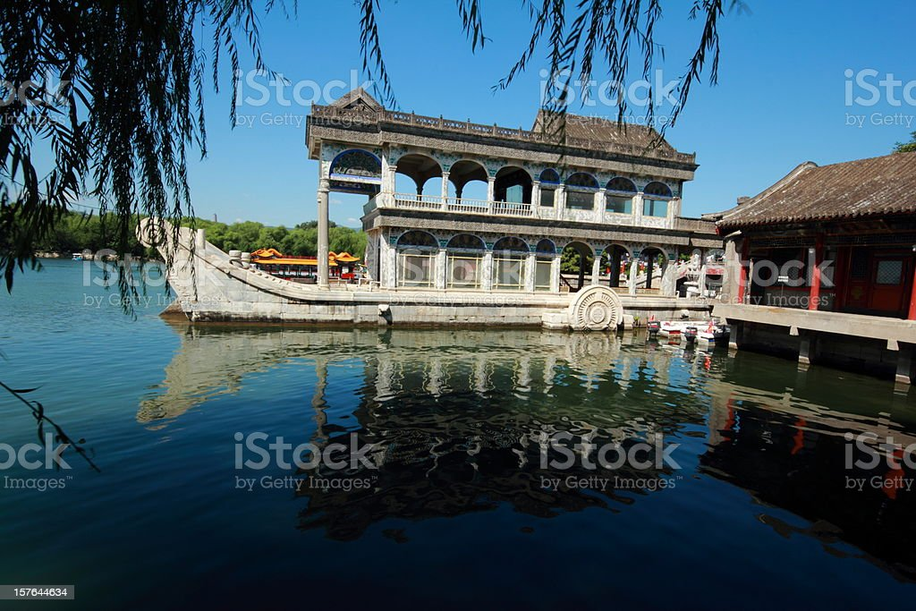 Marble boat, Summer Palace Beijing royalty-free stock photo