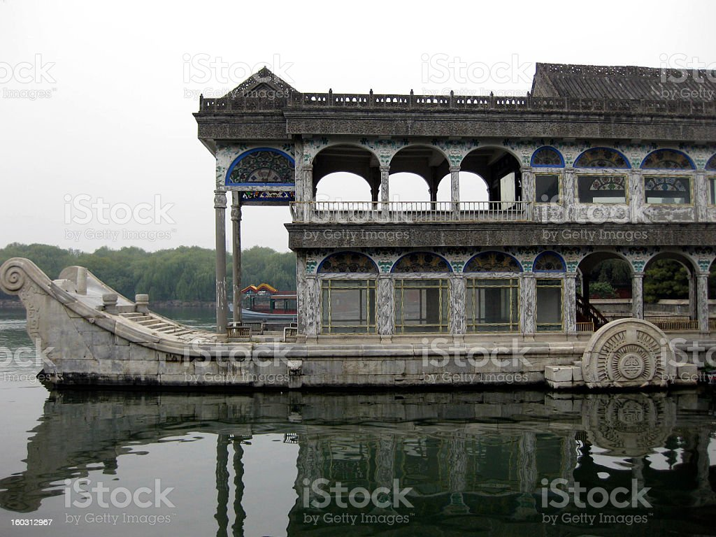 Marble Boat, Summer Palace, Beijing stock photo