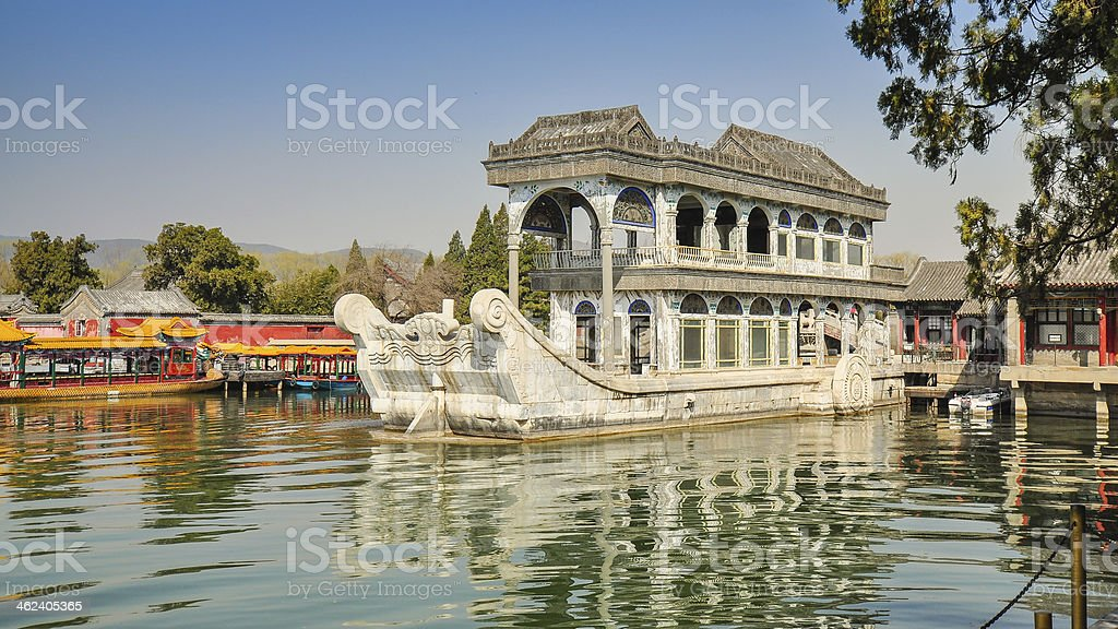 Marble Boat - Summer Palace, Beijing stock photo