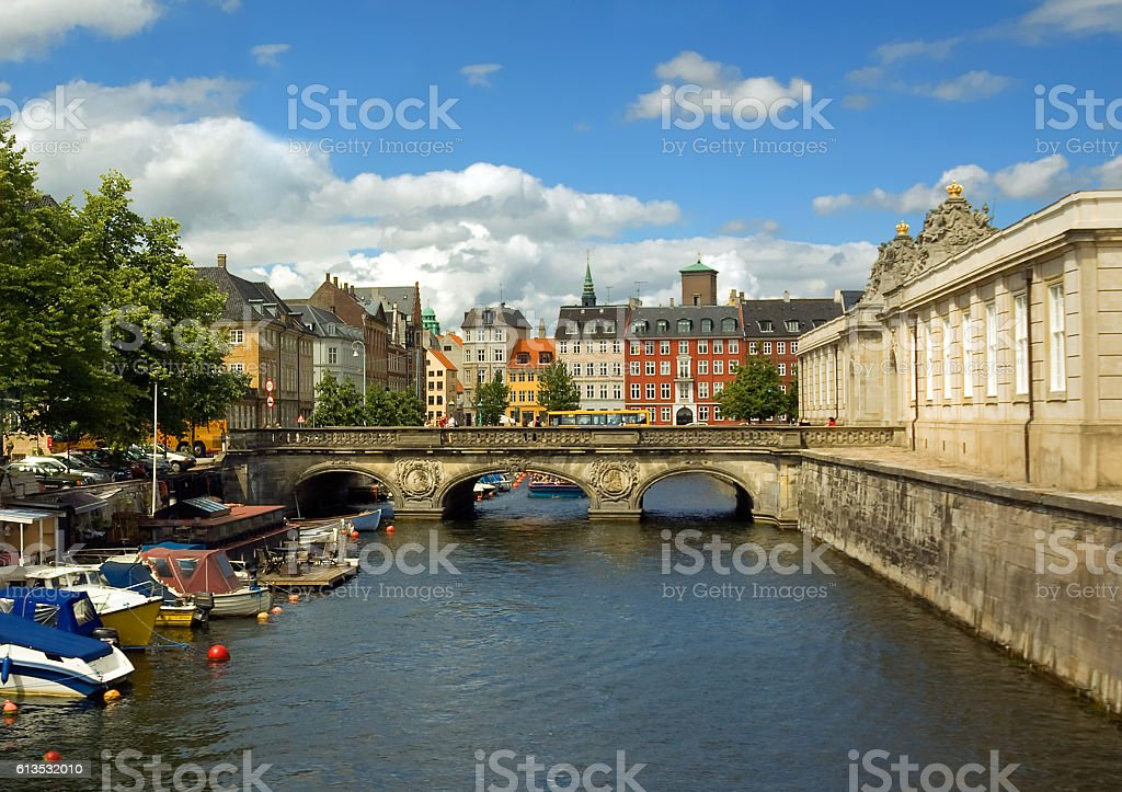 Marble bridge in Copenhagen. stock photo