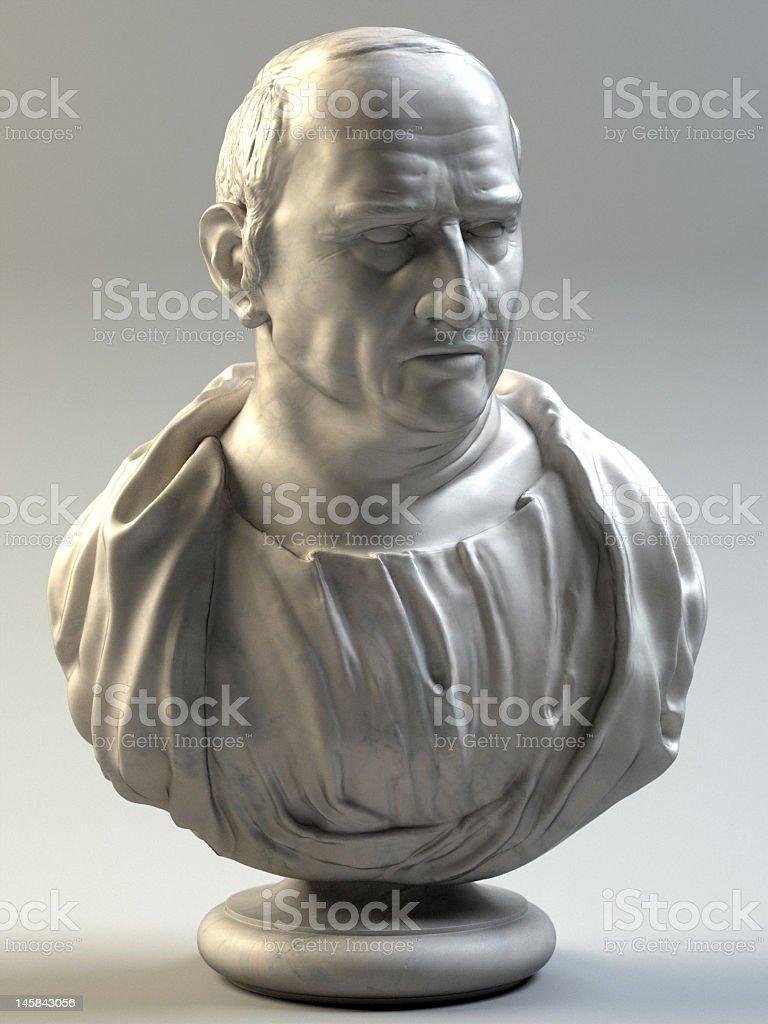 Marble bust of Marcus Tullius Cicero stock photo