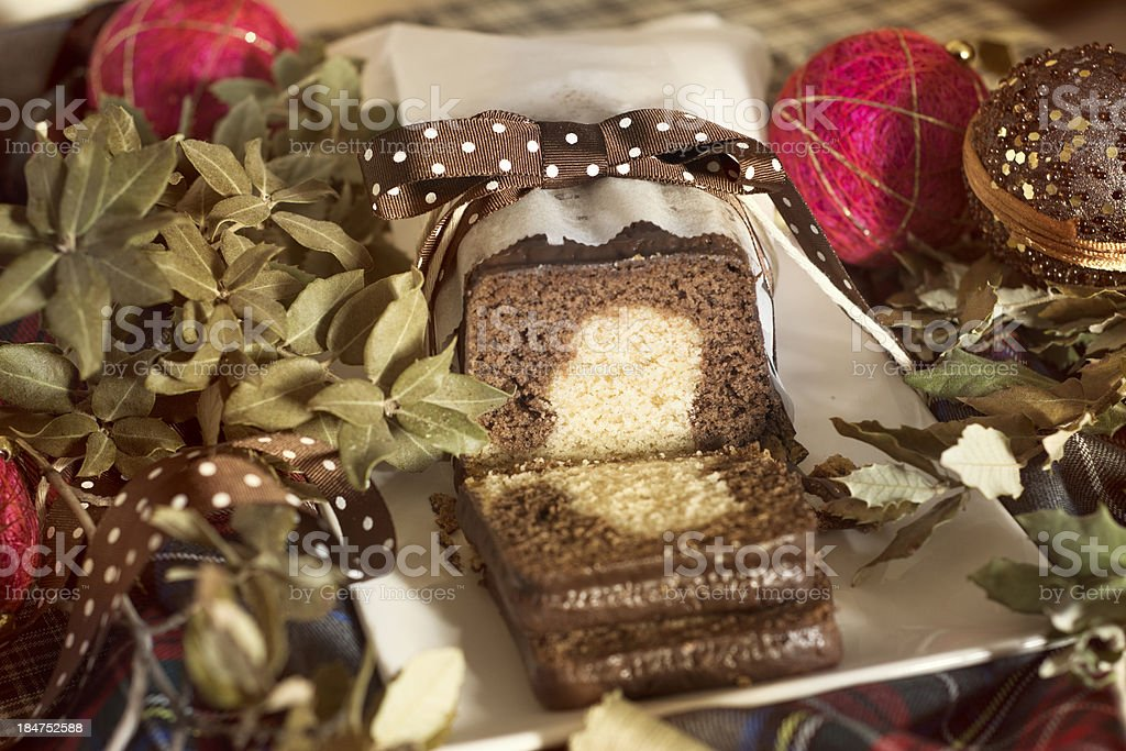 marble cake Christmas royalty-free stock photo
