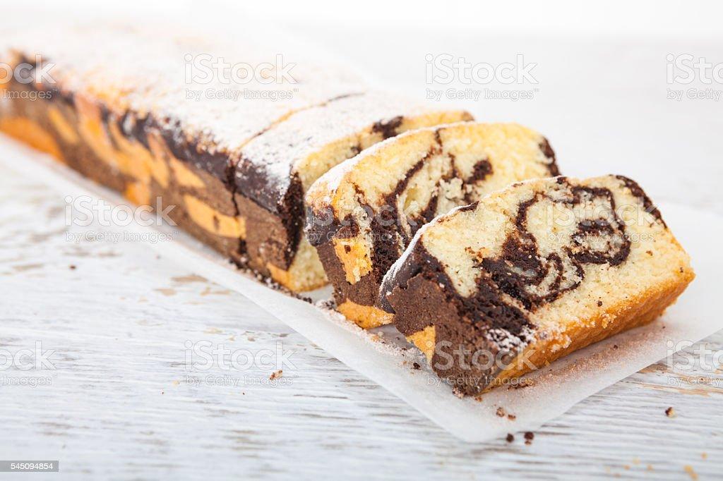 Marble cake - Homemade sweet dessert stock photo