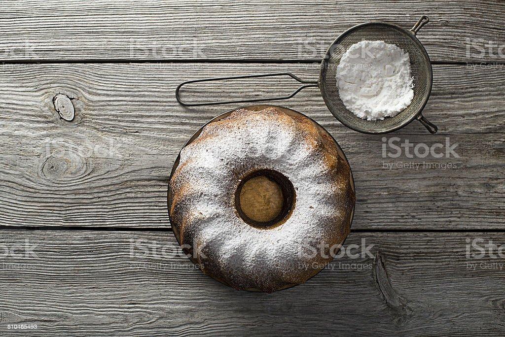 Marble cake stock photo