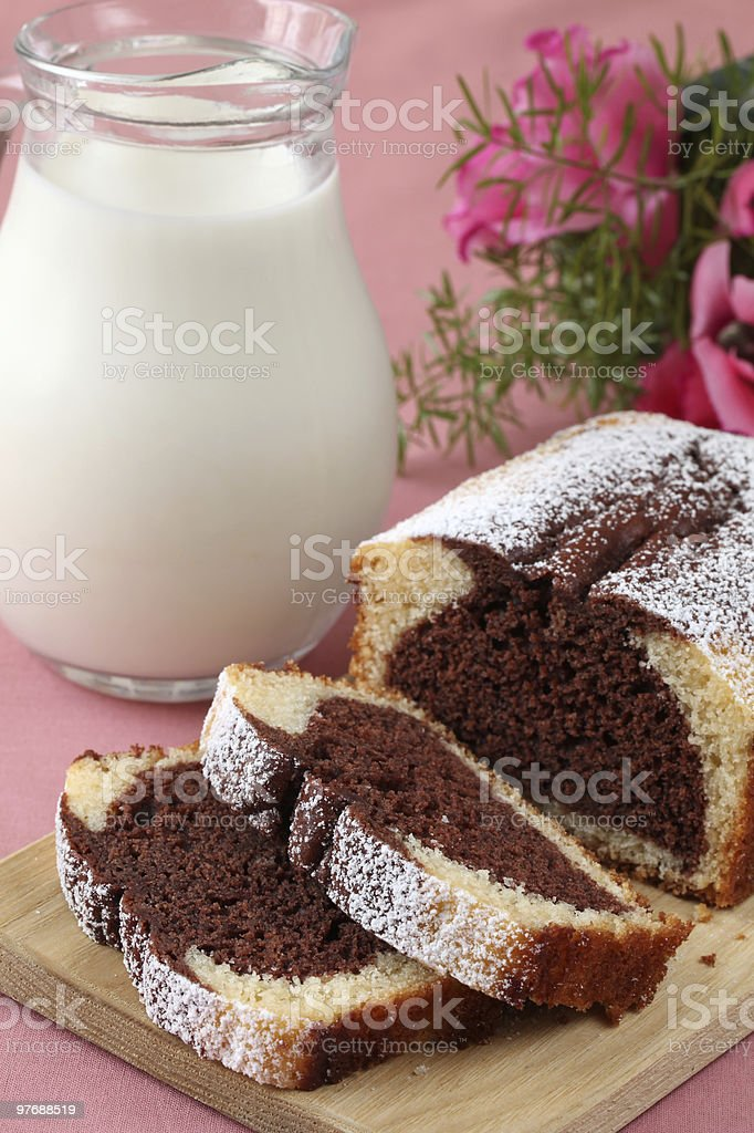 Marble cake royalty-free stock photo