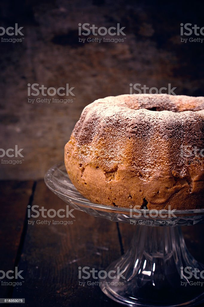 Marble cake time stock photo
