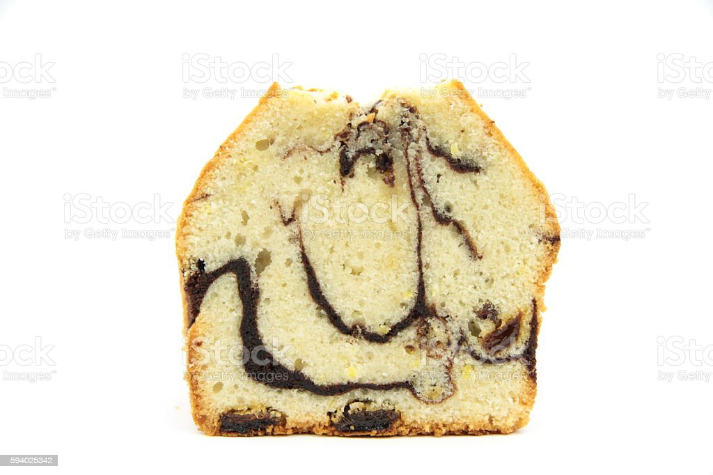 Marble Cake with lemon stock photo