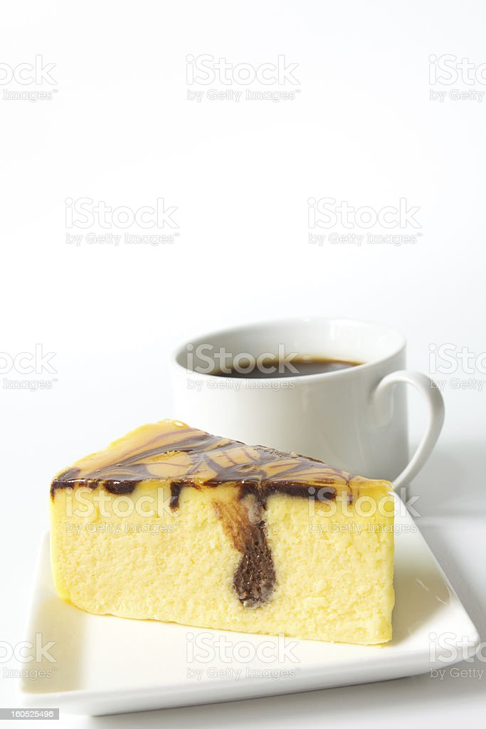 Marble cheese cake royalty-free stock photo