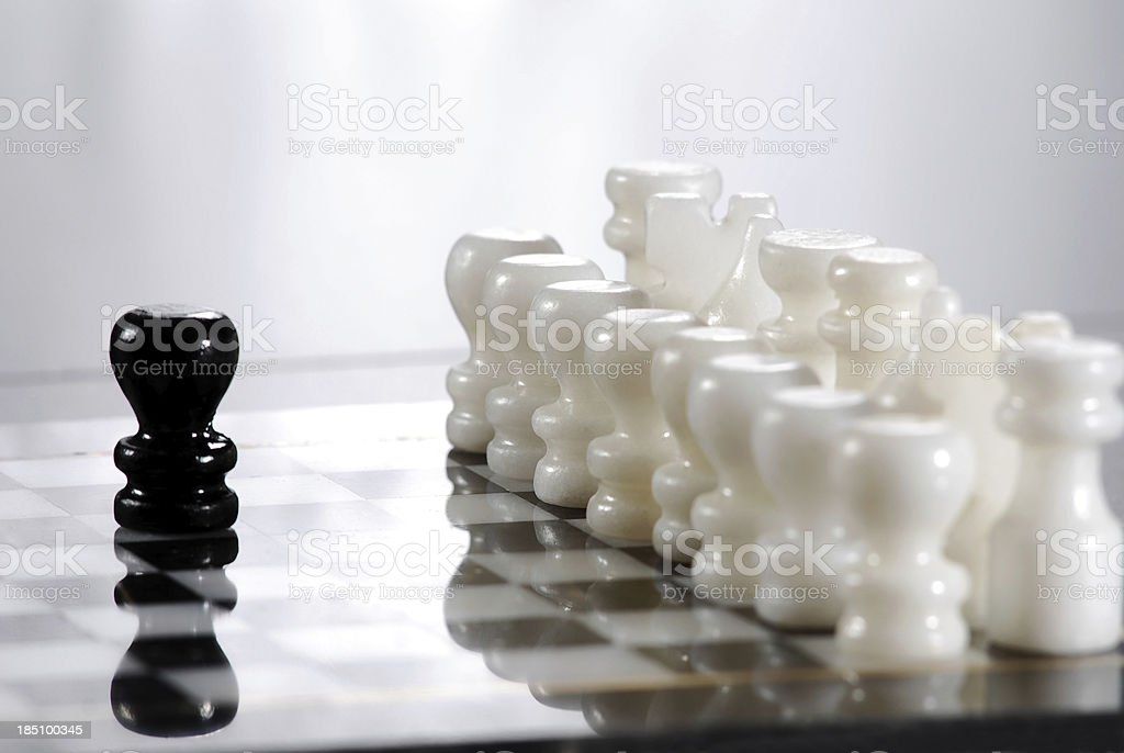 Marble Chess stock photo