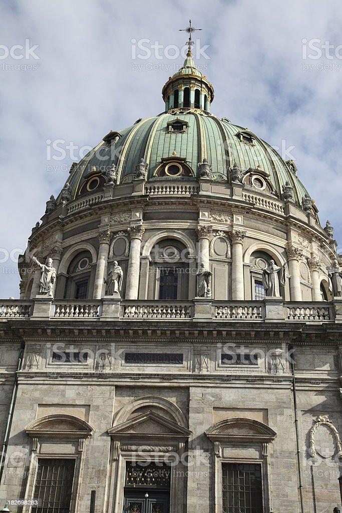 Marble church (Marmorkirken), Copenhagen royalty-free stock photo
