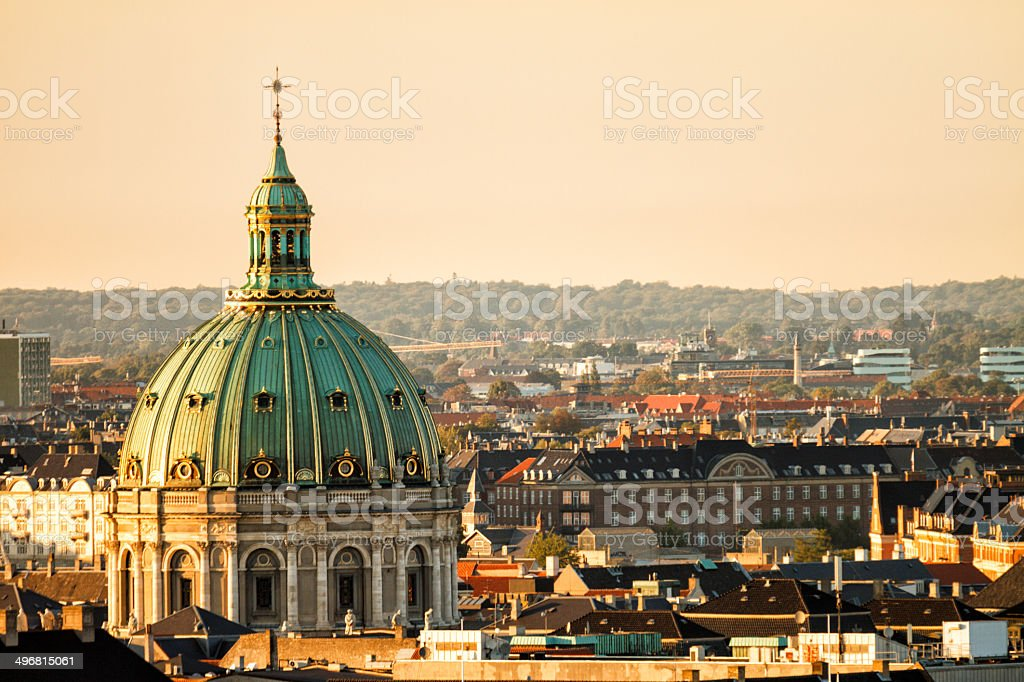 Marble Church in Copenhagen royalty-free stock photo