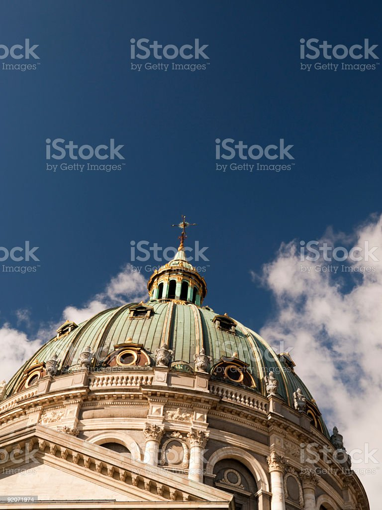 Marble Church in Copenhagen royalty-free stock photo