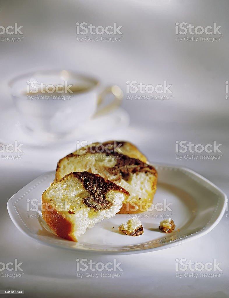 Marble Coffee Cake royalty-free stock photo