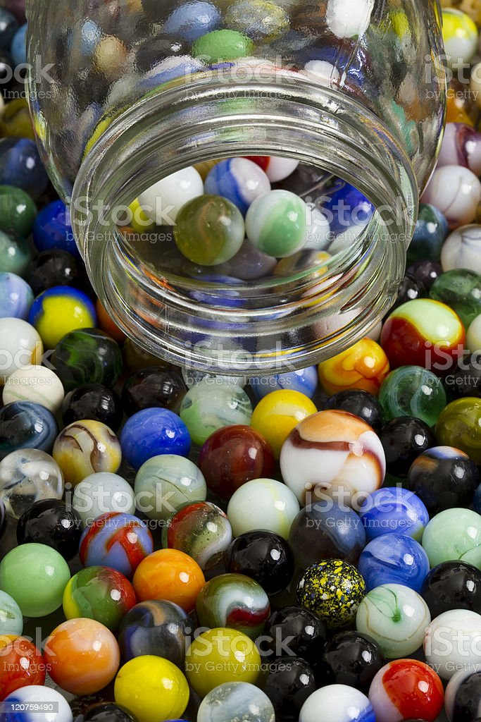 Marble Collection Jar stock photo