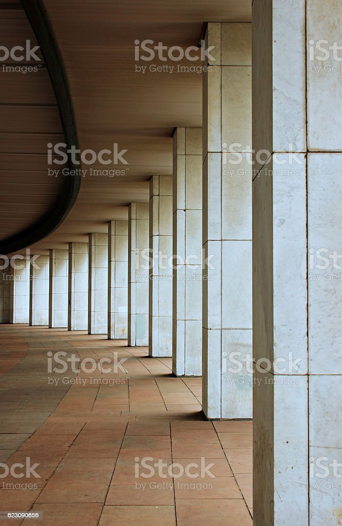 Marble colonnade stock photo