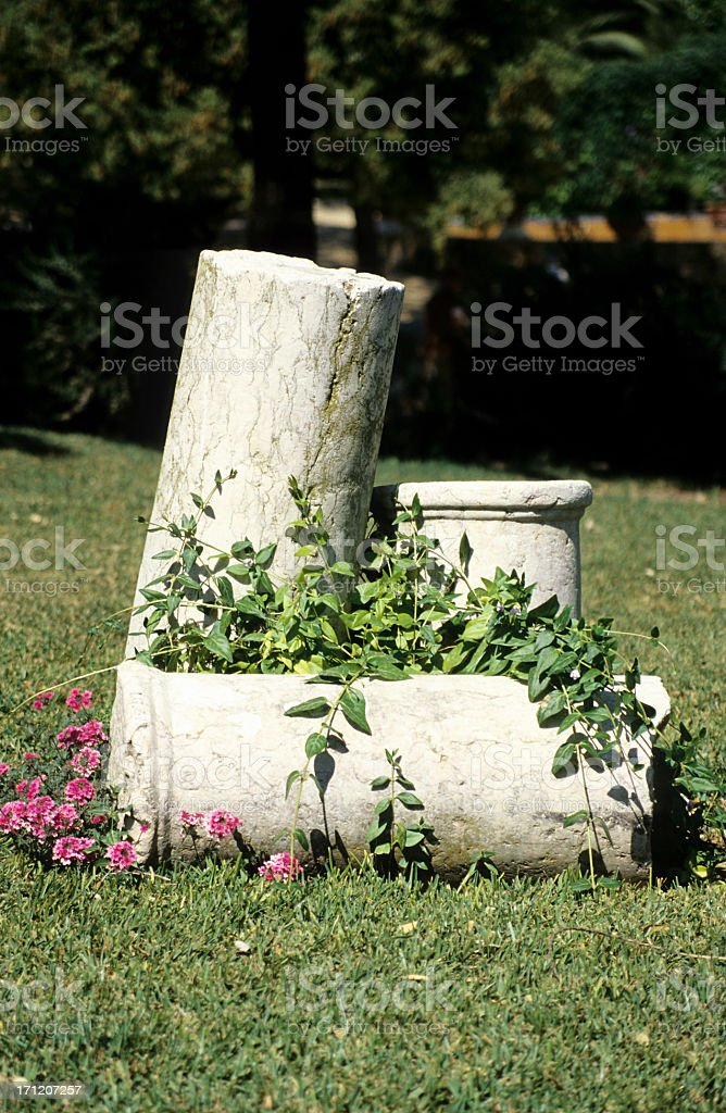 Marble Column Arrangement royalty-free stock photo