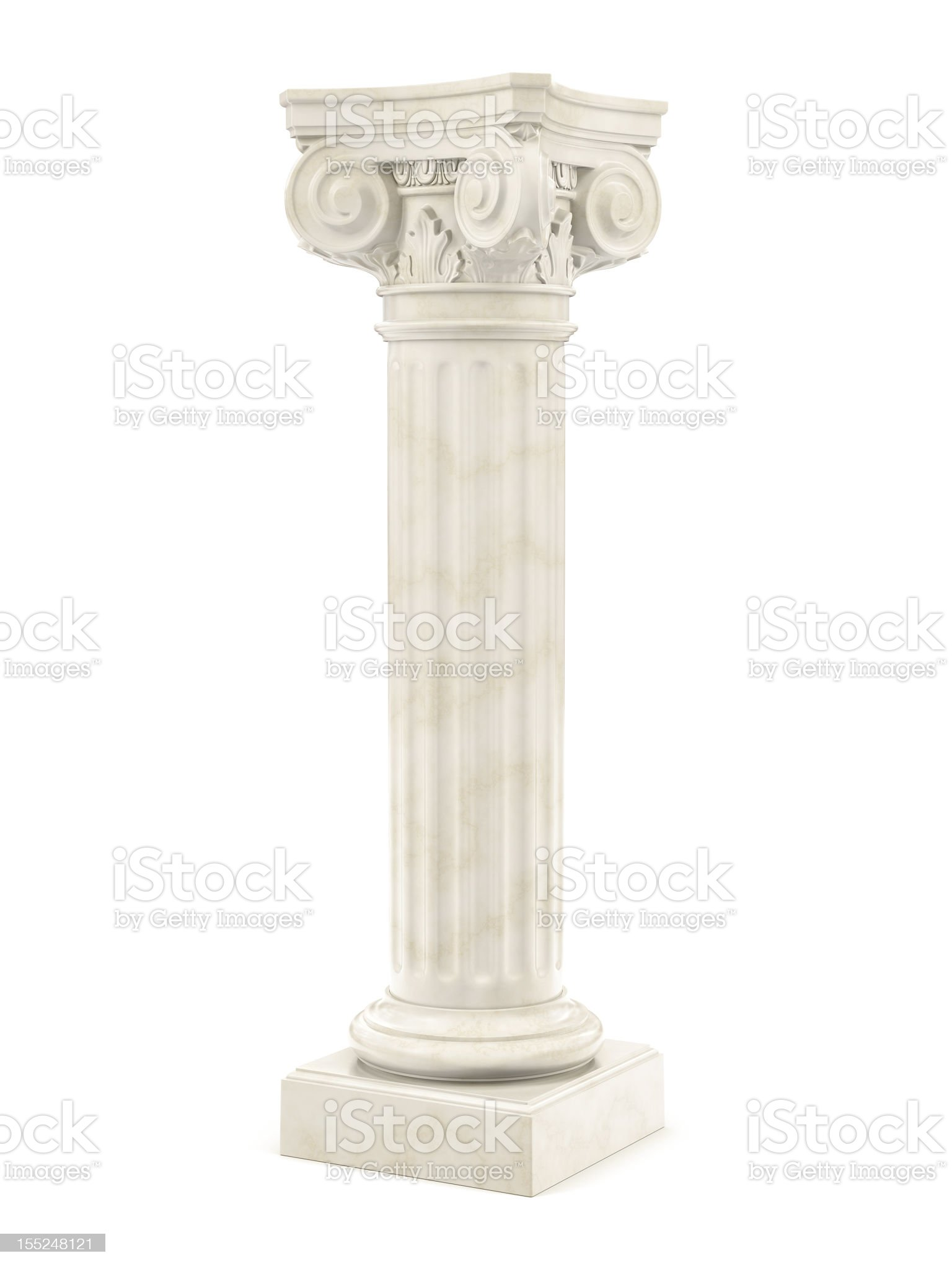 marble column isolated royalty-free stock photo