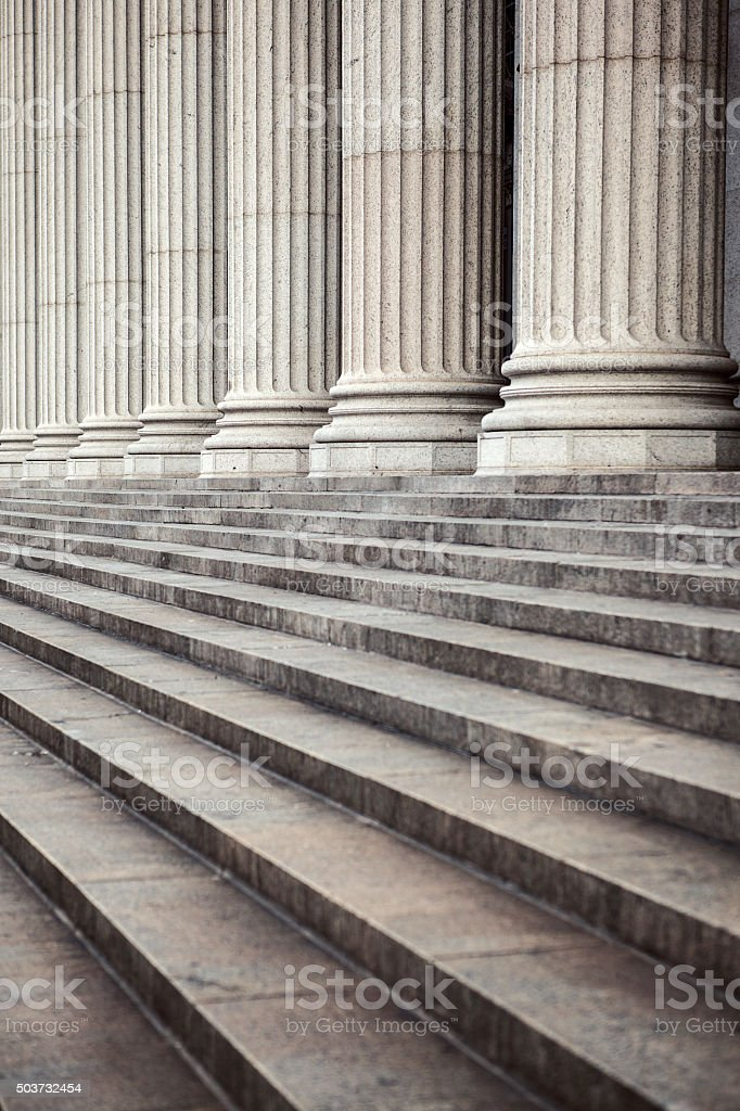 Marble columns, and stairs, New York