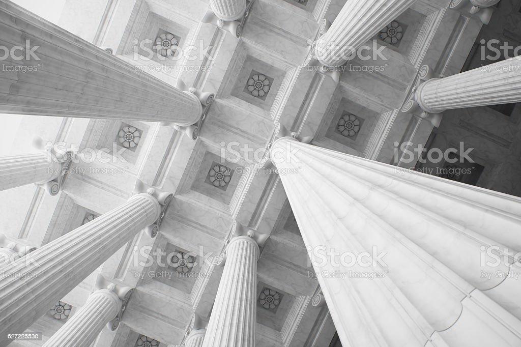 Marble Columns. stock photo