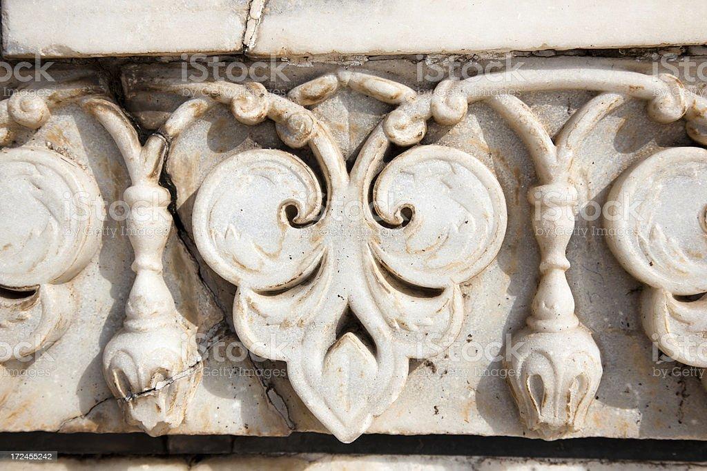 marble detail at Taj Mahal, India royalty-free stock photo