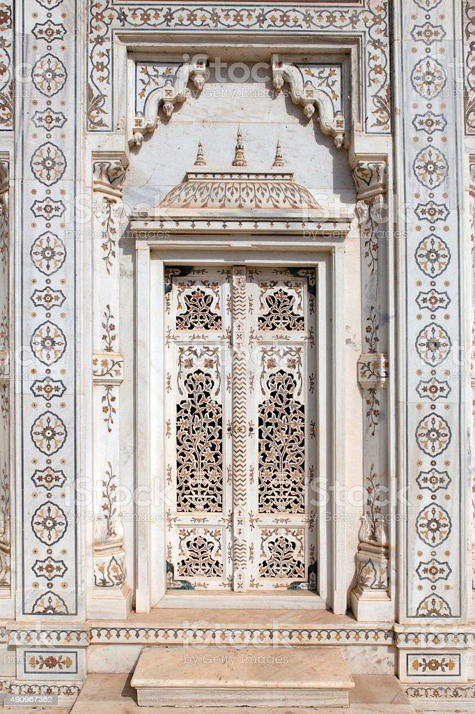 Marble doorway stock photo