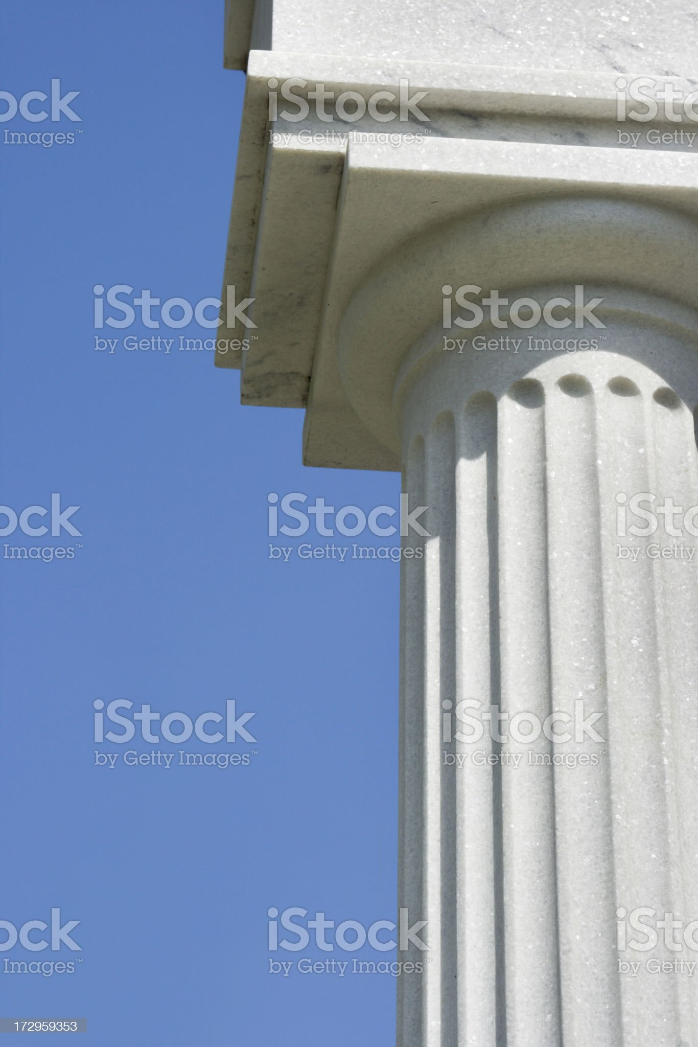 Marble Doric Column Vt royalty-free stock photo