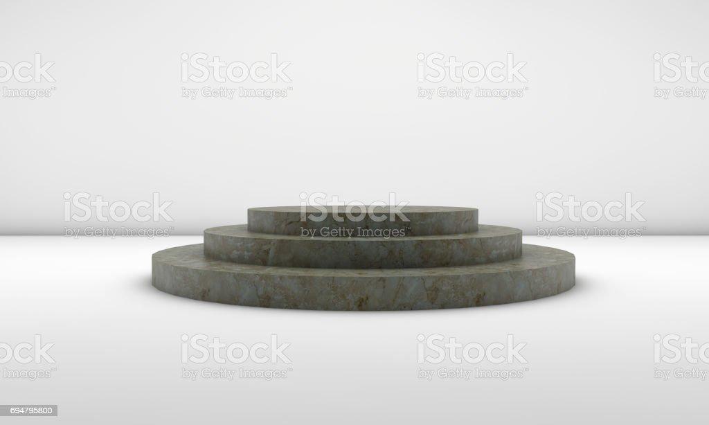 Marble Empty Podium stock photo