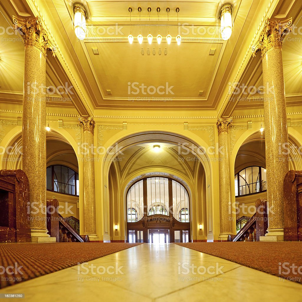 Marble Entrance Hall royalty-free stock photo