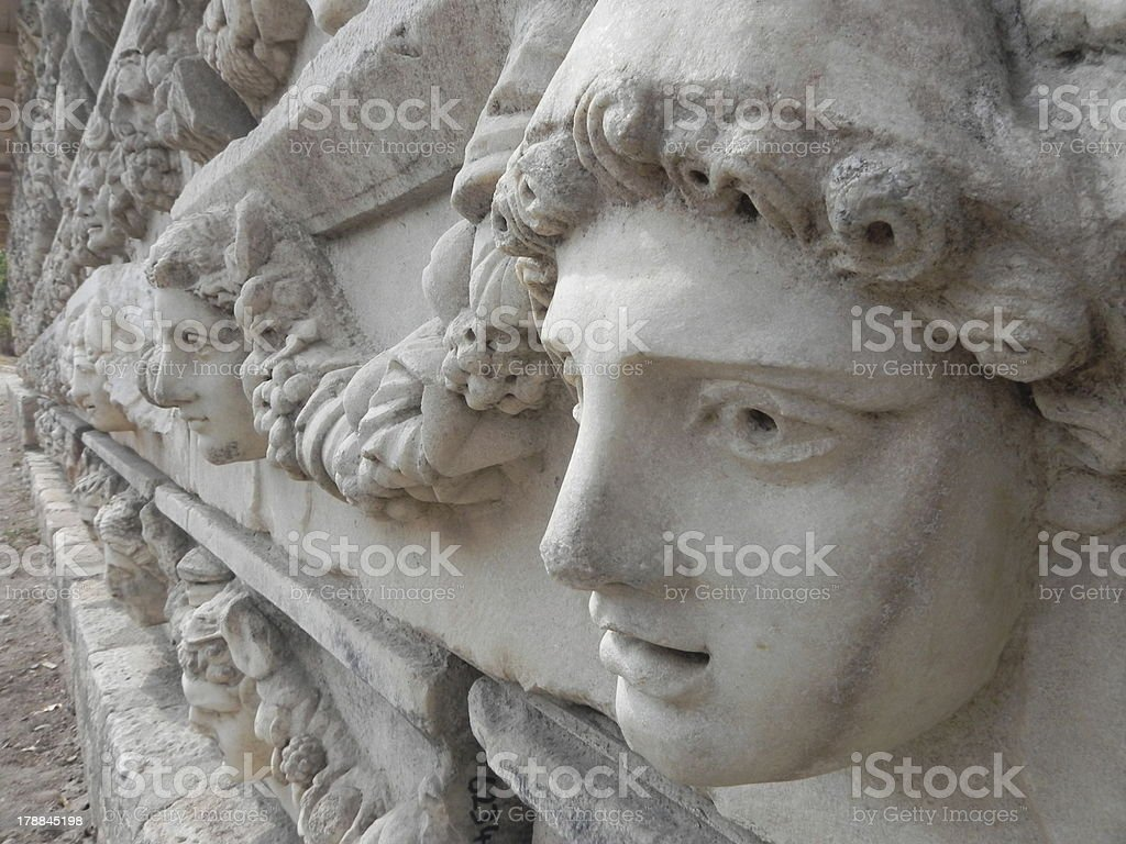Marble Faces stock photo