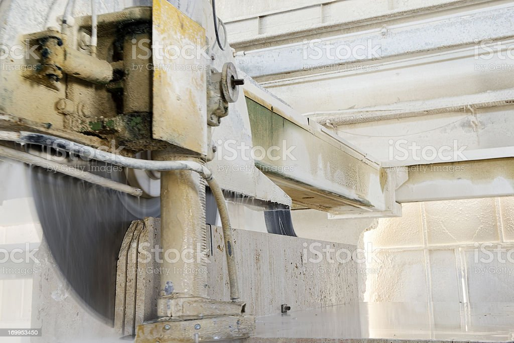 Marble Factory stock photo