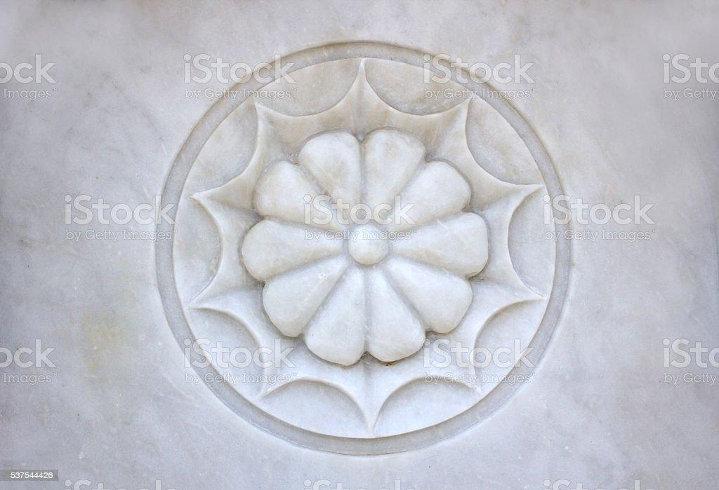 Marble Flower stock photo