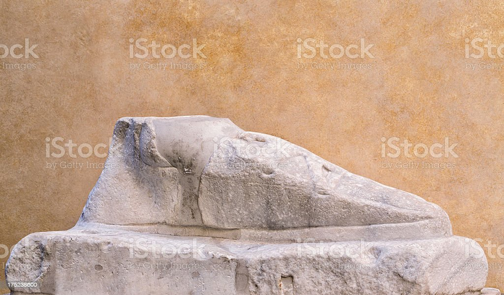 Marble foot in Via del Pie di Marmo, Rome Italy royalty-free stock photo